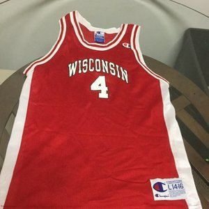 Wisconsin Badgers Champion Jersey  #4 Youth Large
